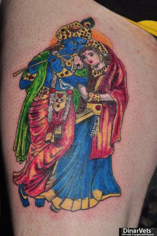 Sri Radha Krishna 6-8-11 (Right thigh)