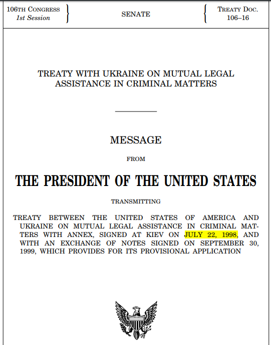 22 July 1998 ~ TREATY with UKRAINE on MUTUAL LEGAL ASSISTANCE in CRIMINAL MATTERS.PNG